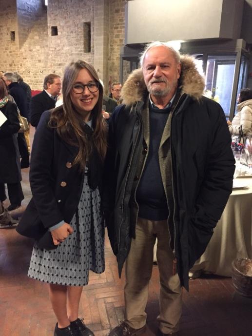 Alisa Tabarrani con il figlio di Mario Luzi (foto Iana Giannini)